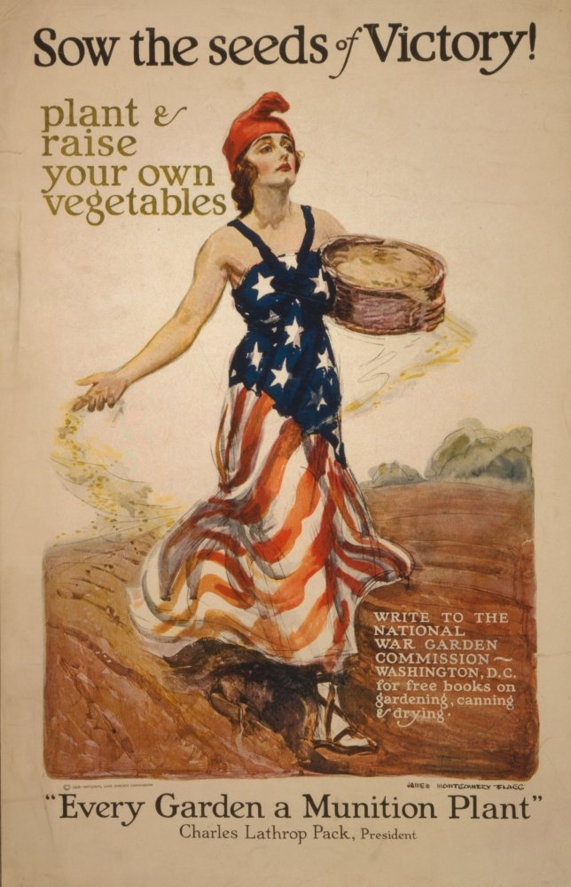 Posterazzi WWI 1918 Sow The Seeds of Victory Poster Print by James Montgomery Flagg, (24 x 36), Varies by Posterazzi