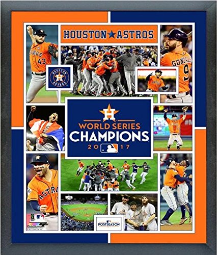 """Houston Astros 2017 World Series Champions Composite Photo (Size: 17"""" x 21"""") Framed"""