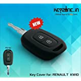 Keyzone Silicone Key Cover For Renault Kwid / Duster 2016 Onwards Remote Key (Black) (1)