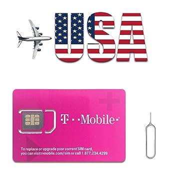T-Mobile Travel USA Tarjeta SIM: Amazon.es: Electrónica