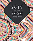 July 2019 - June 2020 Monthly Planner: Mandala