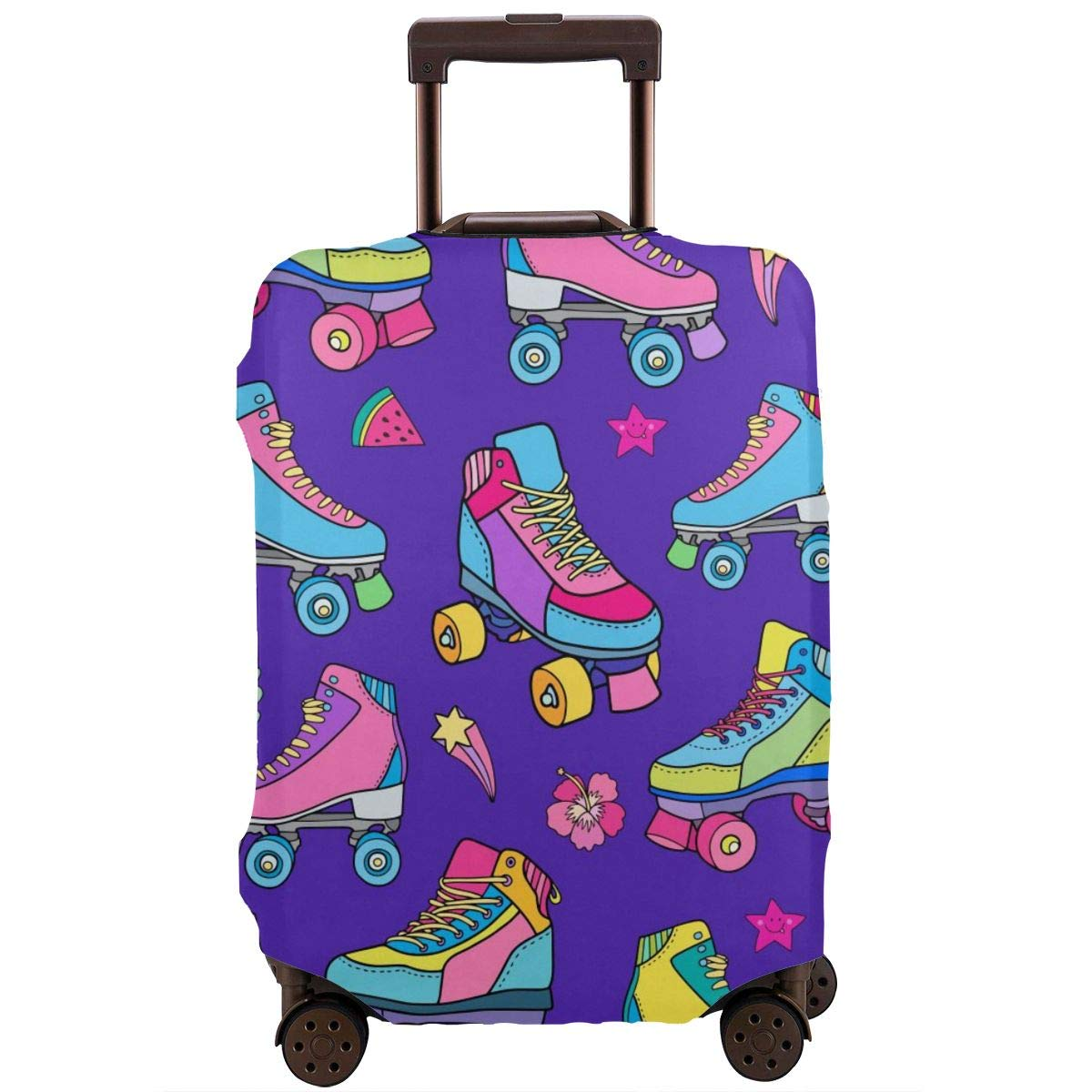 Roller Skates Travel Luggage Cover Suitcase Protector Washable Zipper Baggage Cover