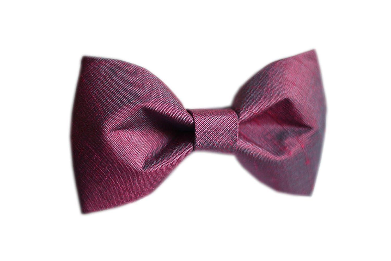 Cloud Rack Bow Tie Silk Purple Bow