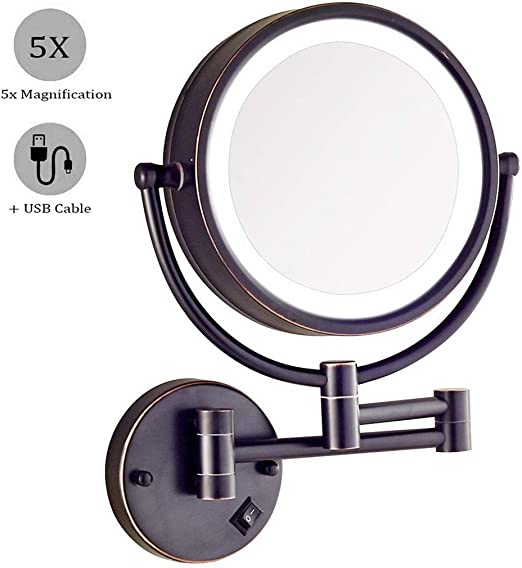 Amazon.  NMRCP Wall Mounted Makeup Mirror with Lights and