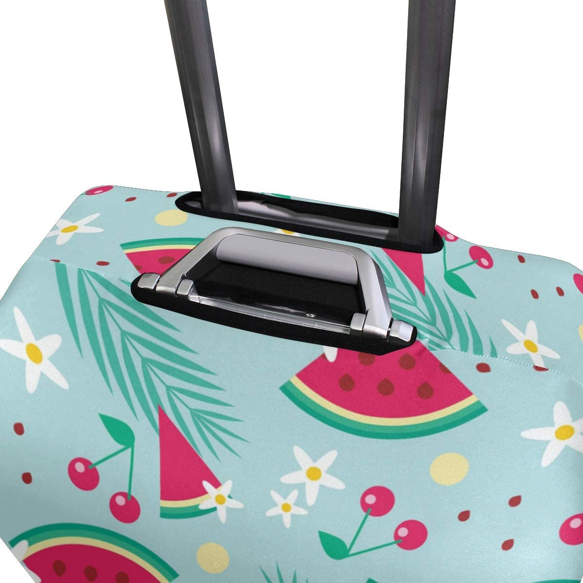 Travel Luggage Cover Watermelons Cherries Pattern Flowers Suitcase Protector