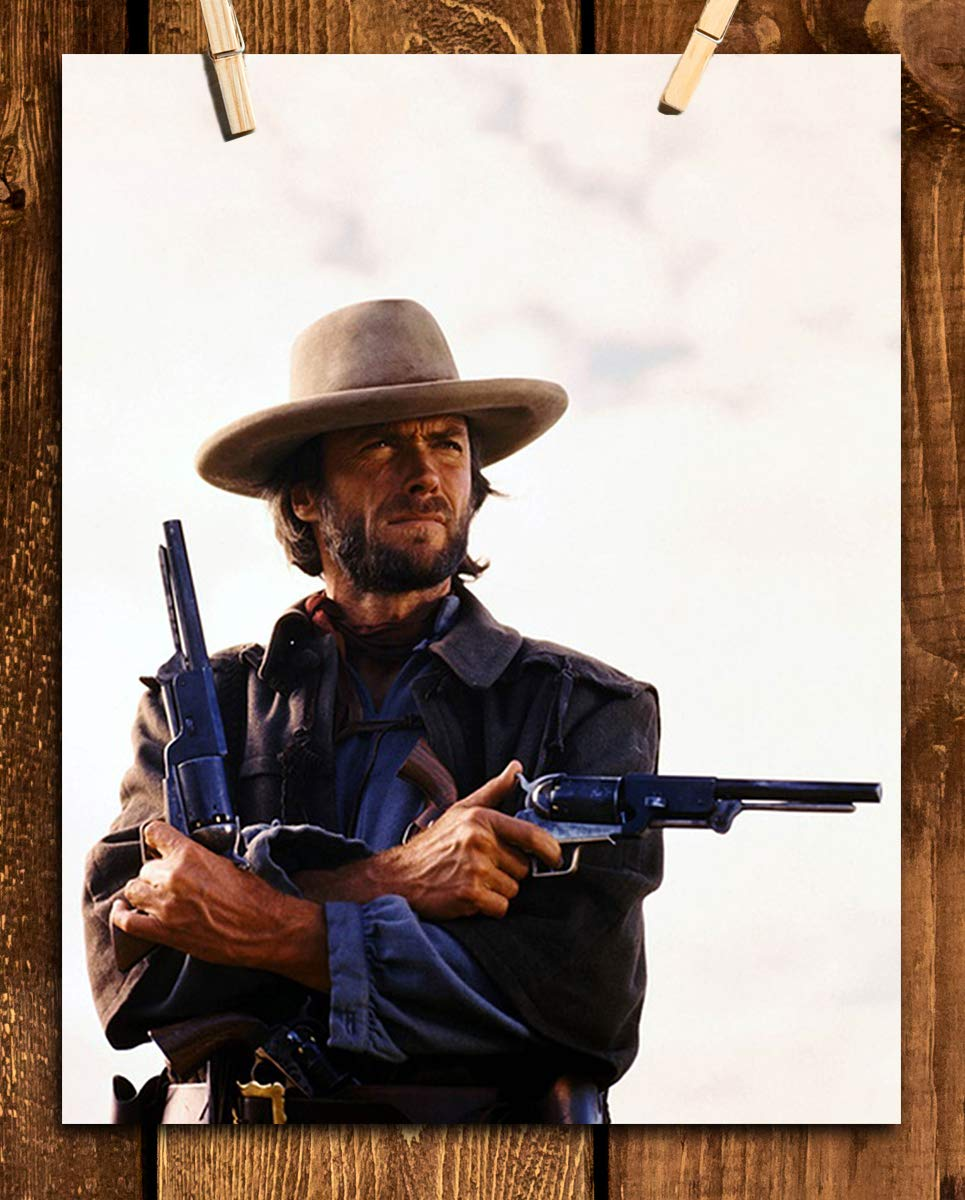 """The Outlaw Josey Wales- Movie Poster Print- 8 x 10"""" Wall Art-Ready to Frame. Western Movies Decor for Home-Office-Garage-Man Cave-Bar. Perfect Collectible for Outlaws & Clint Eastwood Fans."""