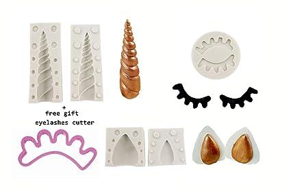 Amazon Com 3 7 Unicorn Horn Mold Silicone Unicorn Cake Mold Set