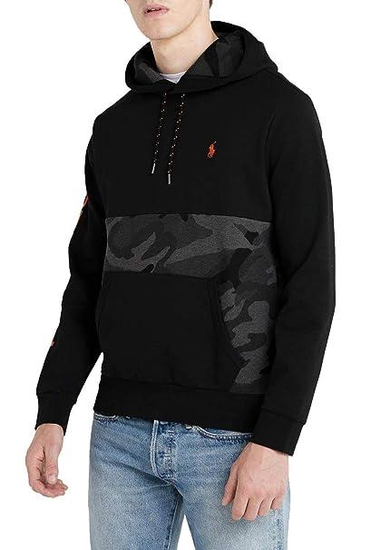 Polo Ralph Lauren Sudadera Camo Hood Negro XL Negro: Amazon.es ...