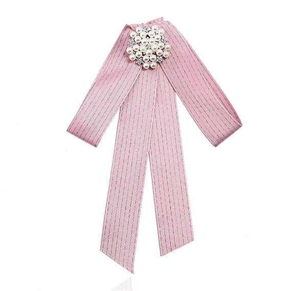 Weentop Broche de Perlas de Cristal Premium para Mujer Corbata ...