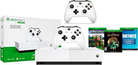 Amazon Com Xbox One S 1tb All Digital Edition Two Controller