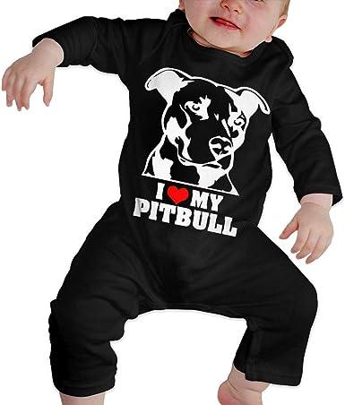 I Love My Pitbull Terrier /· Dog Breeds Childrens Long Sleeve T-Shirt for Boys Girls