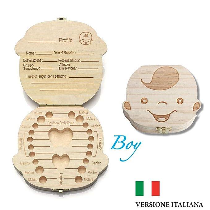 57 opinioni per Cofanetto Conserva Dentini da latte box per bambini (Versione Italiana)- Bimbo e