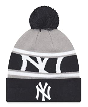 e1a3780b3756c New Era New York Yankees MLB Callout Pom Cuffed Knit Hat with Pom ...