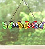Butterflies Stained Glass Hanging Art
