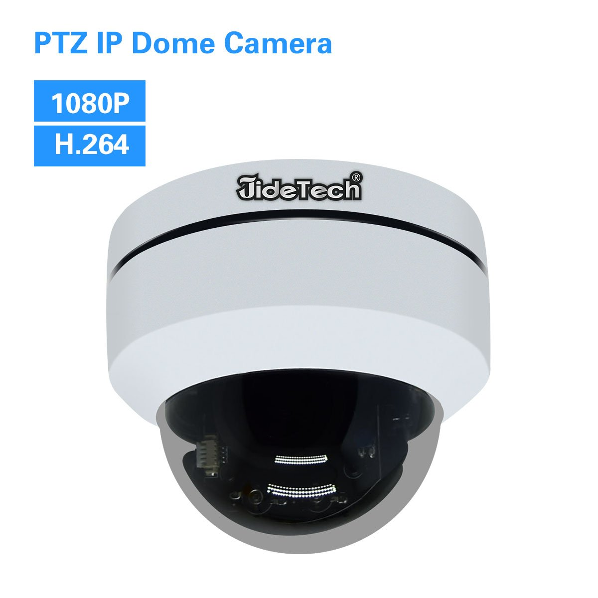 HD 1080P PTZ Outdoor POE Security IP Dome Camera with 3X Optical Zoom Pan/Tilt/3X Motorized Zoom, Dome Style for Ceiling Installation