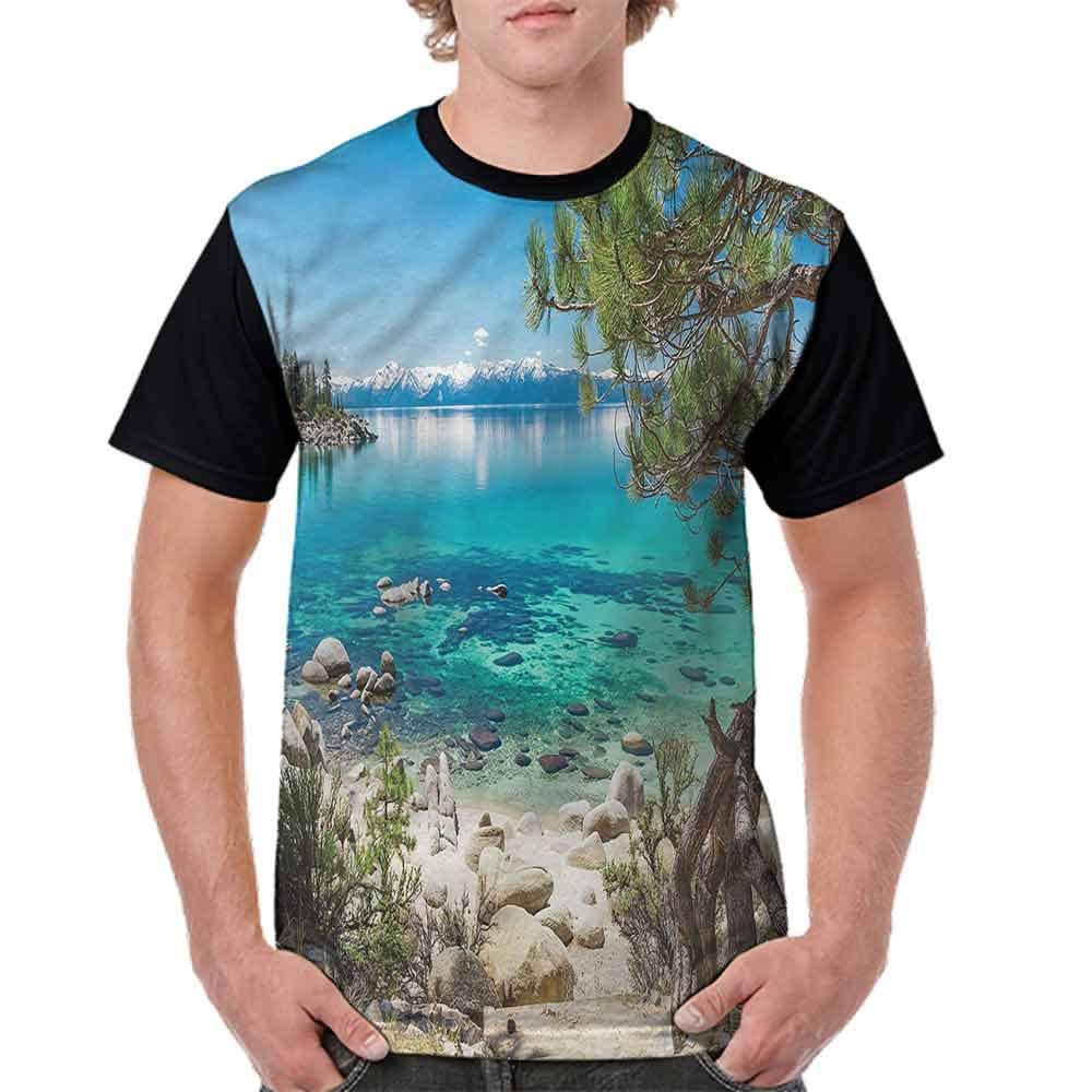 Fashion T-Shirt,Peaceful Coastal Beauty Fashion Personality Customization