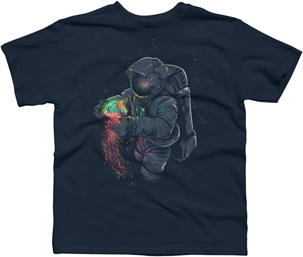 Design By Humans JellySpace Boys Youth Graphic T Shirt