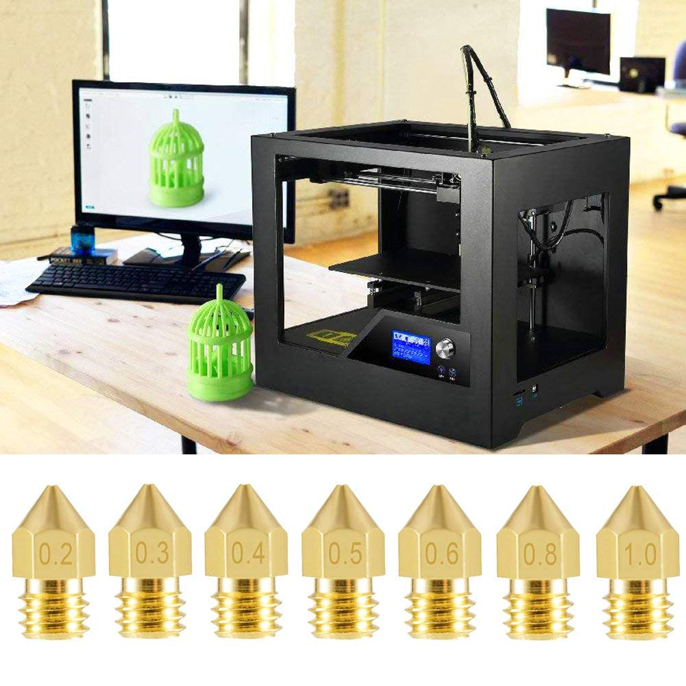 1.0mm Extruder Print Head for 3D Printer Makerbot Creality CR-10 0.4mm 0.5mm 0.3mm 24 Pieces 3D Printer Nozzles MK8 Nozzle 0.2mm 0.8mm 0.6mm