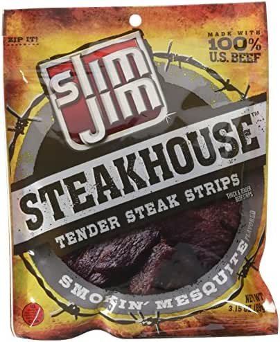 Jerky & Dried Meats: Slim Jim Steakhouse Strips