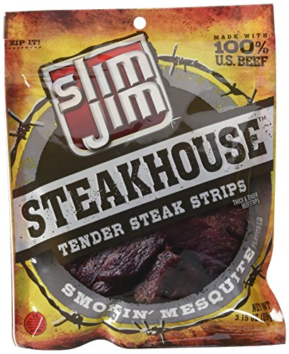 Slim Jim Steakhouse Strips, Smokin' Mesquite, ()