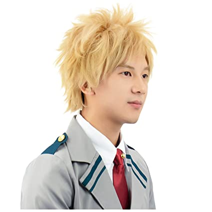 Amazon Com Dazcos Hero Bakugou Katsuki Yellow Cosplay Wig