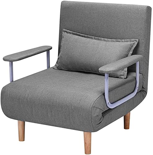 HOMHUM Convertible Sofa Bed Sleeper Chair,Adjustable 5 Position Backrest