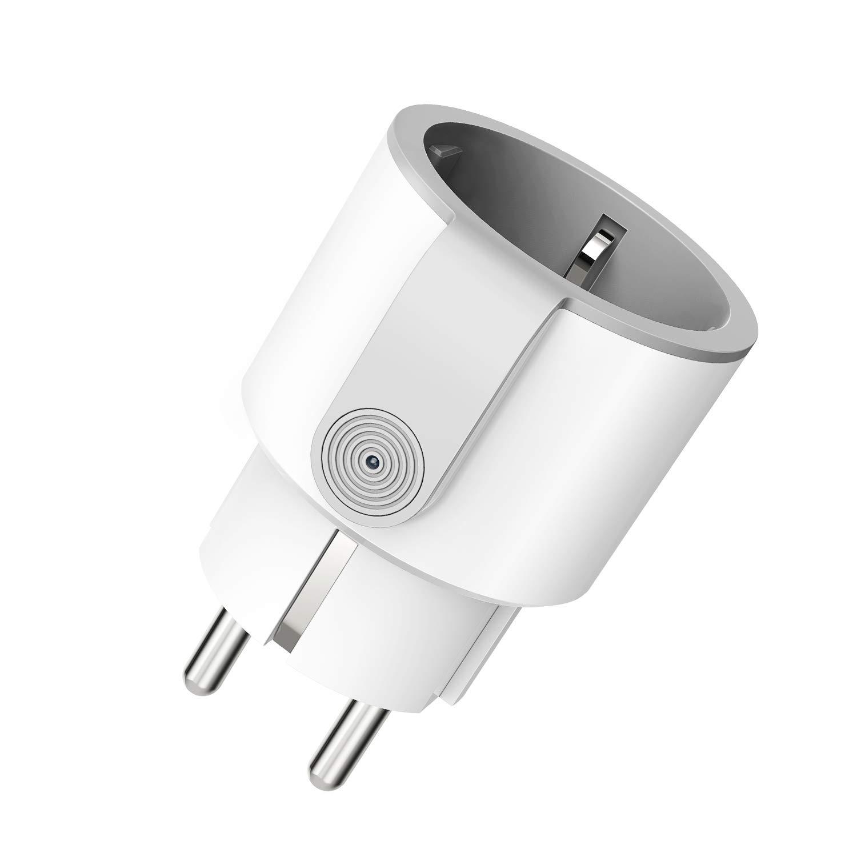 WLAN Steckdose, Smart Steckdose mit Verbrauchsanzeige Timer kompatibel mit iOS & Android, funktioniert mit Alexa/Google Home/IFTTT, Kein Hub erforderlich 10A-2200W Alloyseed