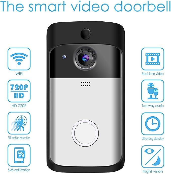 Amazon.com: Video Doorbell, GEREE WiFi Smart Wireless ...
