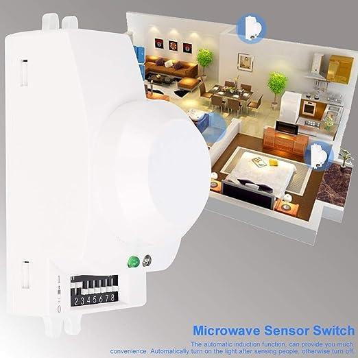 AUNMAS Sensor de Radar de microondas Detector de Movimiento del ...