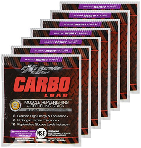 BlueBonnet Extreme Edge Carbo Load Powder, Busting Berry, 7 Count
