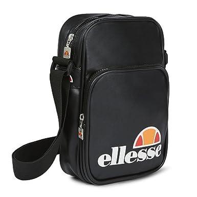 7b99b38a1d Ellesse Potenza Cross Shoulder  Flight Bag - Black  Amazon.co.uk ...