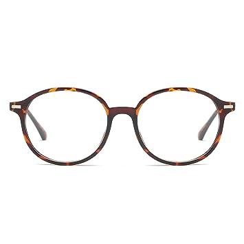 a28e6b695a VANLINKER Clear Lens Eyeglasses Anti Blue Light Computer Reading Glasses  VL9005 C1 Leopard Print Frame