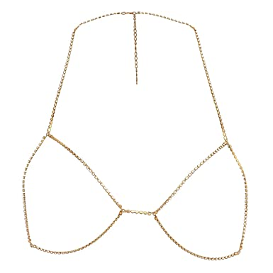 7275022e6 Golddigga Womens Silouette Body Chain Gold M-L: Amazon.co.uk: Clothing