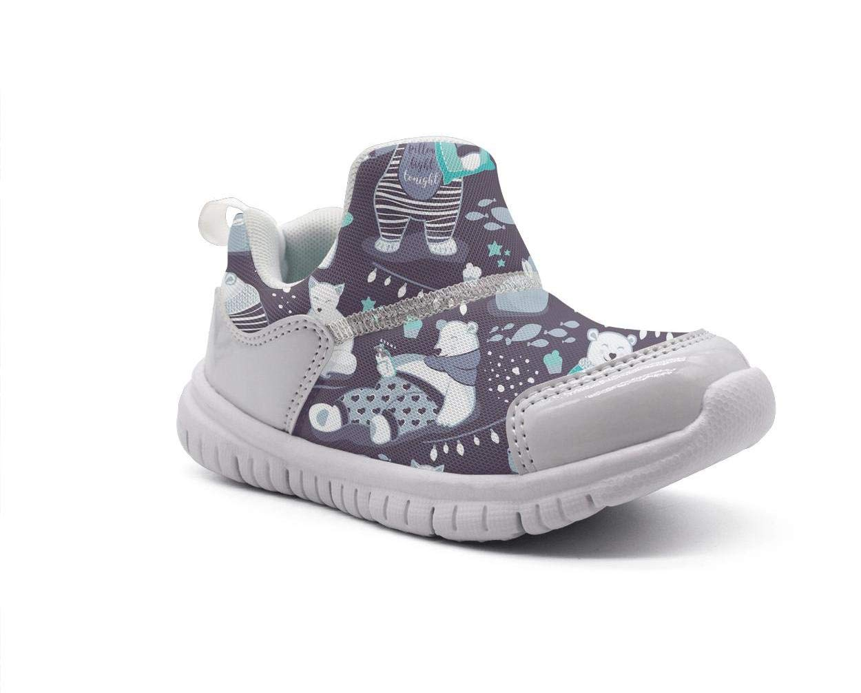 ONEYUAN Children Polar Bear Arctic Bear Winter Animal Kid Casual Lightweight Sport Shoes Sneakers Walking Athletic Shoes