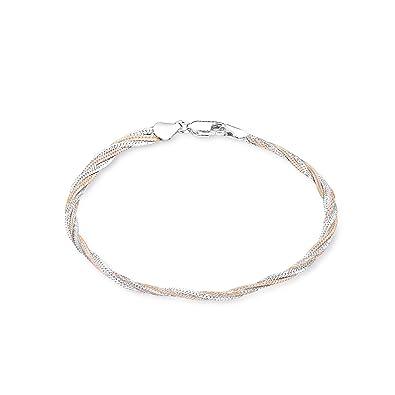 amor Damen-Armband 19cm Bicolor 925 Silber teil-rosévergoldet  Amazon.de   Schmuck c1d4e860a9