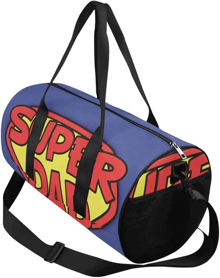 INTERESTPRINT Super Dad Water-Proof /& Tear Resistant Travel Duffel Bag