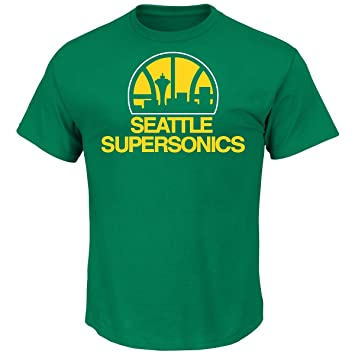 Shawn Kemp Seattle Supersonics Majestic NBA Throwback Player T-Shirt Camisa: Amazon.es: Deportes y aire libre