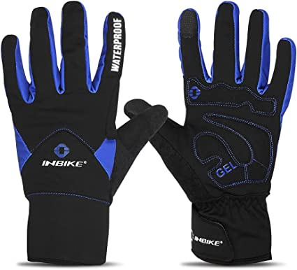 BoxGrans Winter Cycling Gloves Full Finger Warm Liner for Cold Weather Thermal Bicycle Glove for Men Women Running Biking Skiing