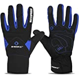 INBIKE Men's Touch Screen Winter Cold Weather Thermal Windproof Gel Bike Gloves