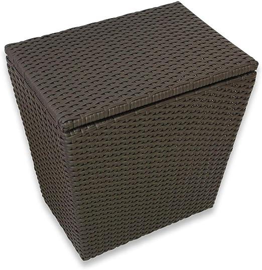 Cesta de almacenamiento Canasta de plástico Cesto cubierto grande Cesta de lavandería Ropa de baño Cesta de almacenamiento Cesta de almacenamiento Caja de almacenamiento de gran tamaño Cesto de mimbre: Amazon.es: Hogar