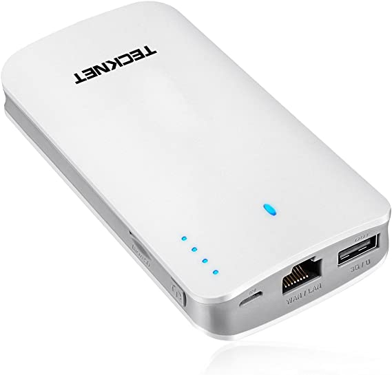 TeckNet® Power Bank 9000mAH Portable Charger Battery Pack USB External Battery With 3G router access, N Portable WiFi Router & WiFi Repeater, Wireless External HDD / Flash Drive / Micro SD Card