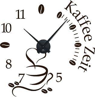 Graz Design 800396_SI_070 Wandtattoo Uhr Wanduhr mit Uhrwerk Küche ...