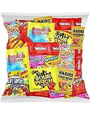 Halloween Bulk Assorted Fruit Candy - Starburst, Skittles, Swedish Fish, SweeTarts, Nerds, Sour Patch Kids, Haribo Gold-Bears Gummi Bears & Twizzlers (32 Oz Variety Fun Pack) by Variety Fun