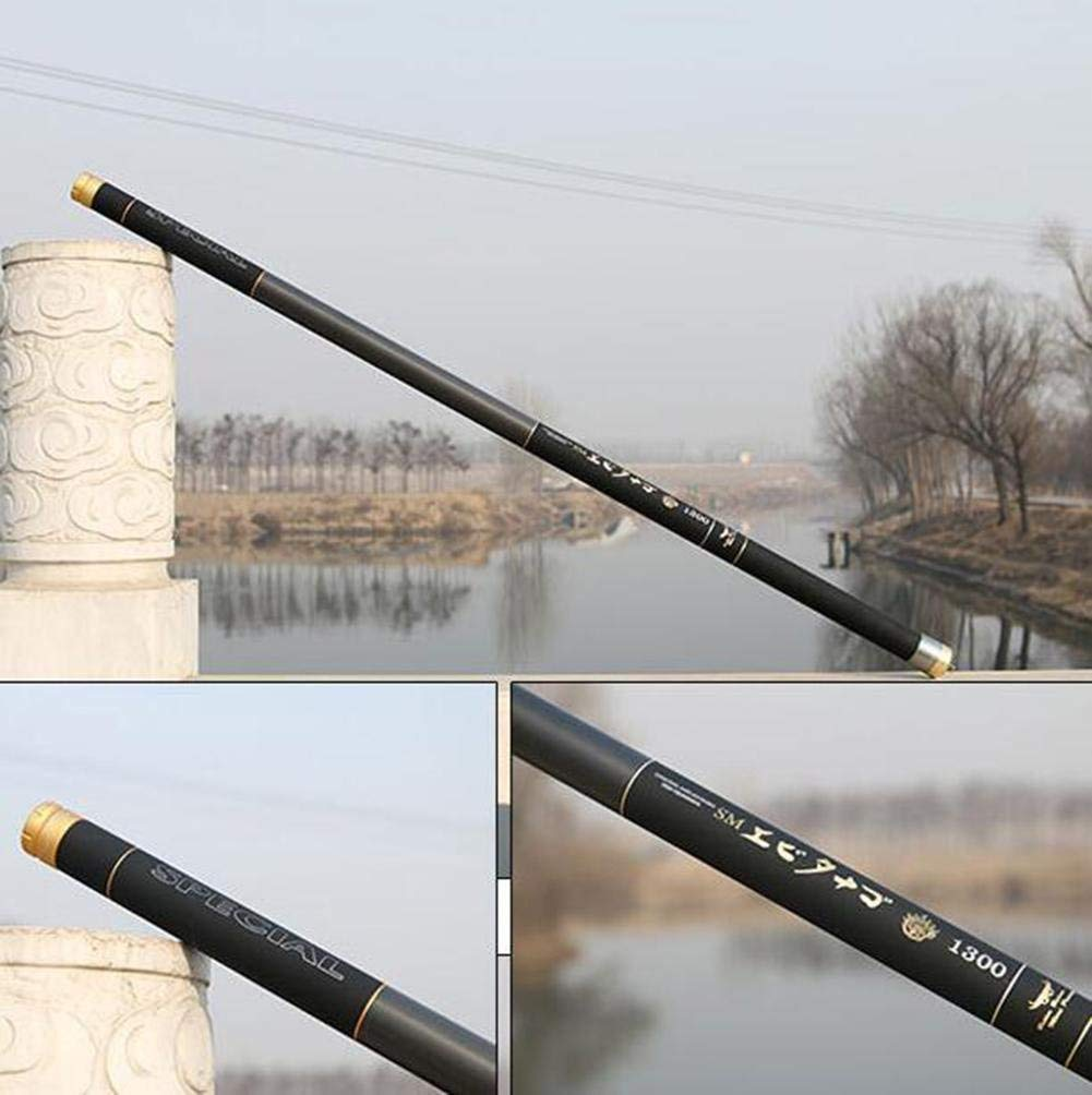 LZH Tige de pêche 28 tonalité Carbone Streamer Moteur Longue section super rigide ultra légère 10//08//10//11//12//13//14//15 mètres canne à pêche LZH FISHING GEAR