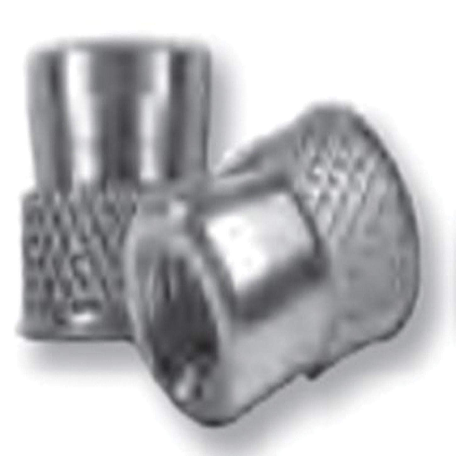 CFW2-0632, Nutsert Insert, 6-32, Material Thickness (.062-Up) RND Nutsert (Diamond Knurled) Low PRO HD, Steel, Tin CLR by CFW/CAW Series