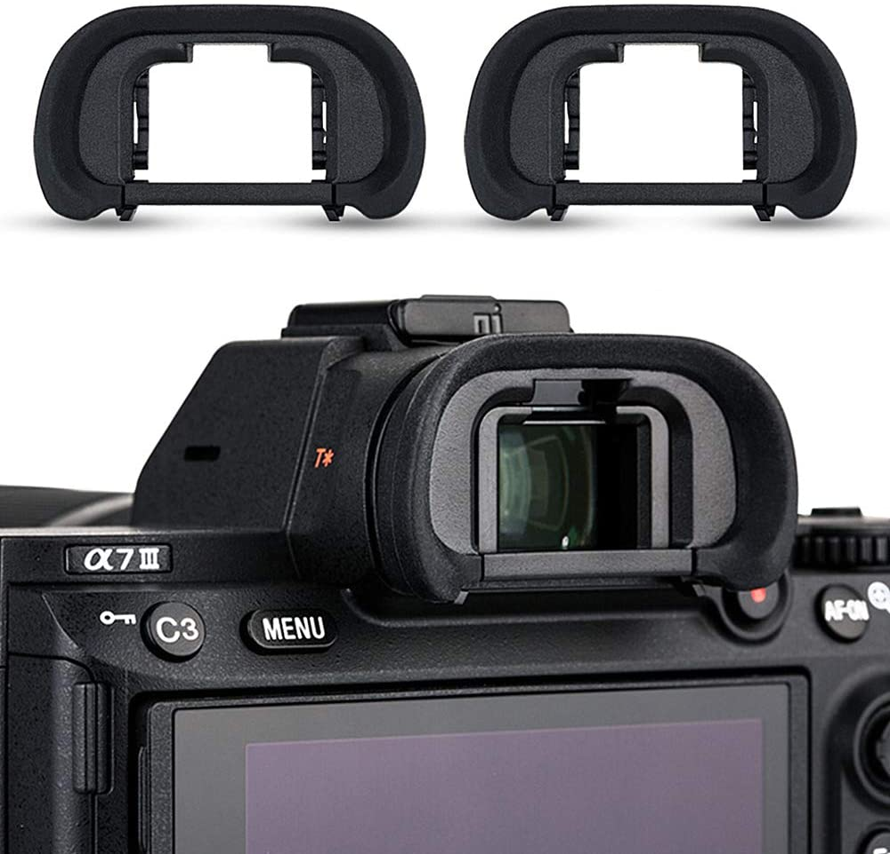 2 Pack Camera Eyecup Eye Cup Eyepiece Spare Replacement for Sony A9II A7RIV A7RIII A7III A7RII A7SII A7II A7R A7S A7 A9 A99II A58, Replaces Sony FDA-EP18 FDA-EP16 FDA-EP15