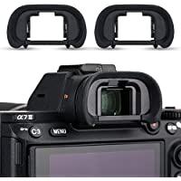 2 Pack JJC FDA-EP18 Eye Cup Eyepiece Eyeshade Viewfinder Protector for Sony A7RIV A7 A7II A7III A7R A7RII A7RIII A7S A7SII A9 A58 A99II , Replaces Sony FDA-EP18 Eyecup