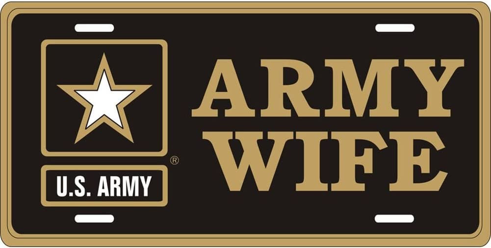 Army Star Honor Country Army Wife License Plate