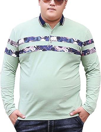 Camisetas De Manga Larga para Hombre Polo Botón Camisas Ejercicio ...