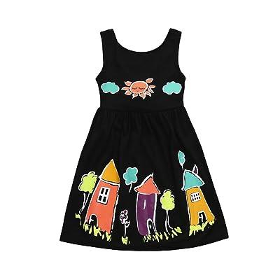 a598e6e46 Winsummer Baby Girls Summer Dress Kids Girl Floral Houses Sun ...